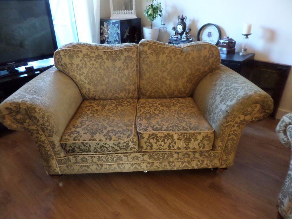 Interesting Kirkdale Seater Sofa U Matching Armchair In Gold Damask John  Lewis Laura Ashley Style With Damask Sofa.
