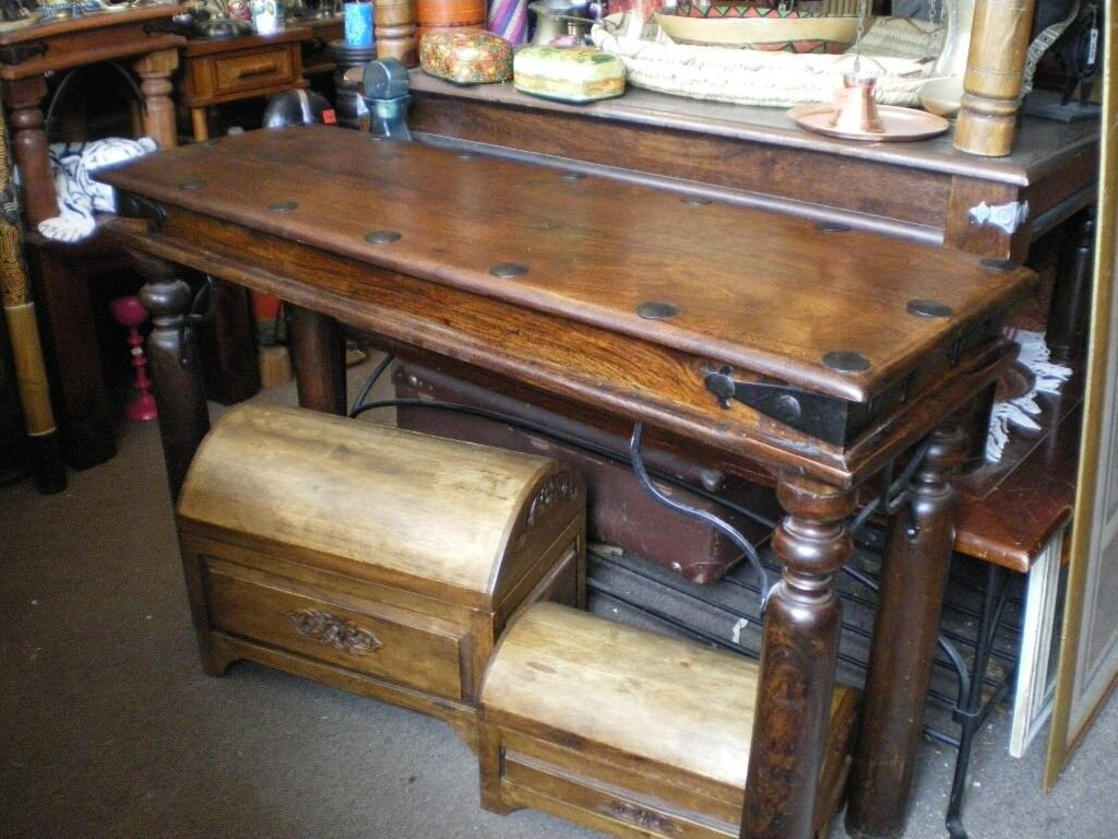 INDIAN SHEESHAM WOOD CONSOLE TABLE