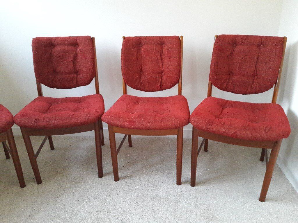 Six Retro Dining Chairs By McIntosh Of Kirkcaldy. These Are Very Sturdy  Chairs. Teak