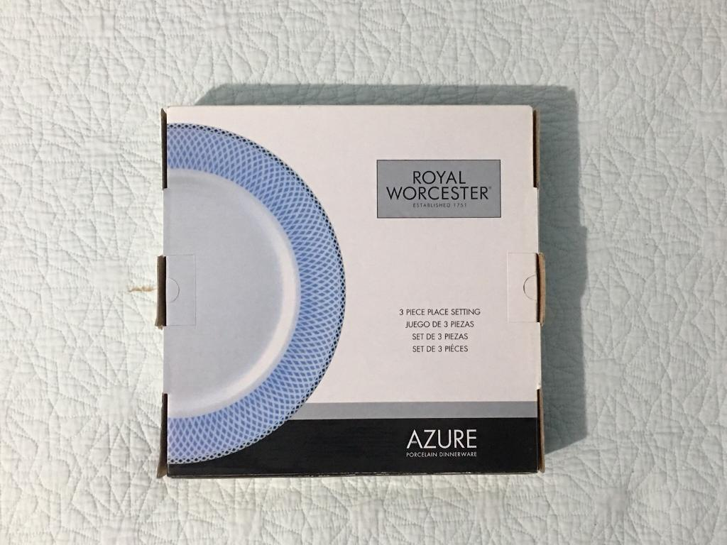 Azure - Royal Worcester 3 Plate set & Azure - Royal Worcester 3 Plate set | in Chiswick London | Gumtree