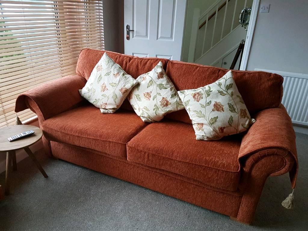 Carnaby 3 Seater Sofa U0026 Arm Chair   Plush Paprika (Orange)