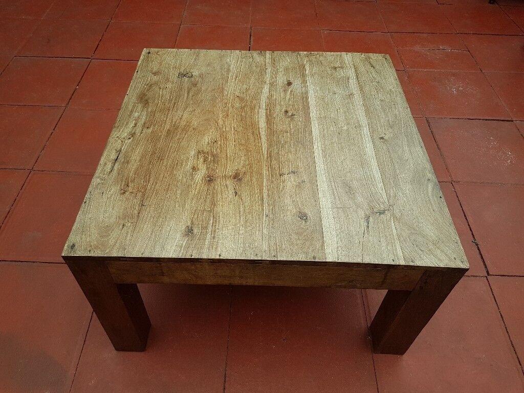 Beautiful Heavy Wood Coffee Table   Square 80cm X 80cm H:45cm