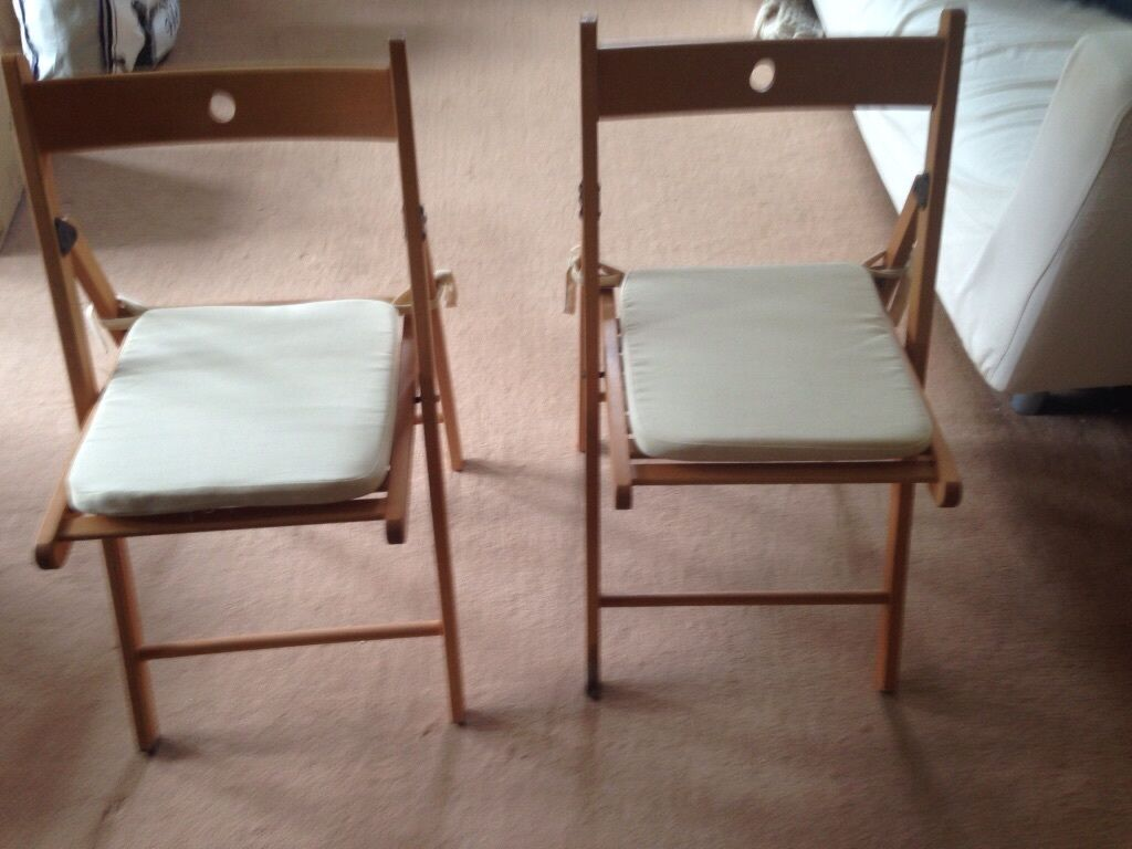 2 ikea terje beech folding chairs with cream cushions & ikea terje chair u2013 Loris Decoration