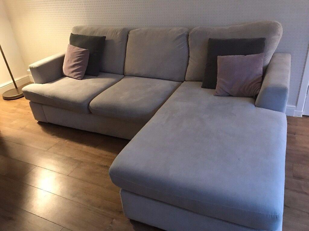 4 Seater Grey Fabric Sofa   Freya (DFS)   GREAT PRICE!