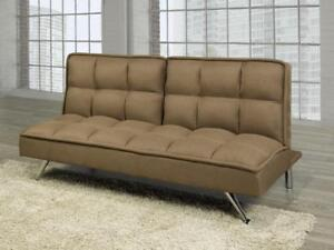 brown fabric sofa bed  bd 1658  futon   buy or sell a couch or futon in kitchener   waterloo      rh   kijiji ca