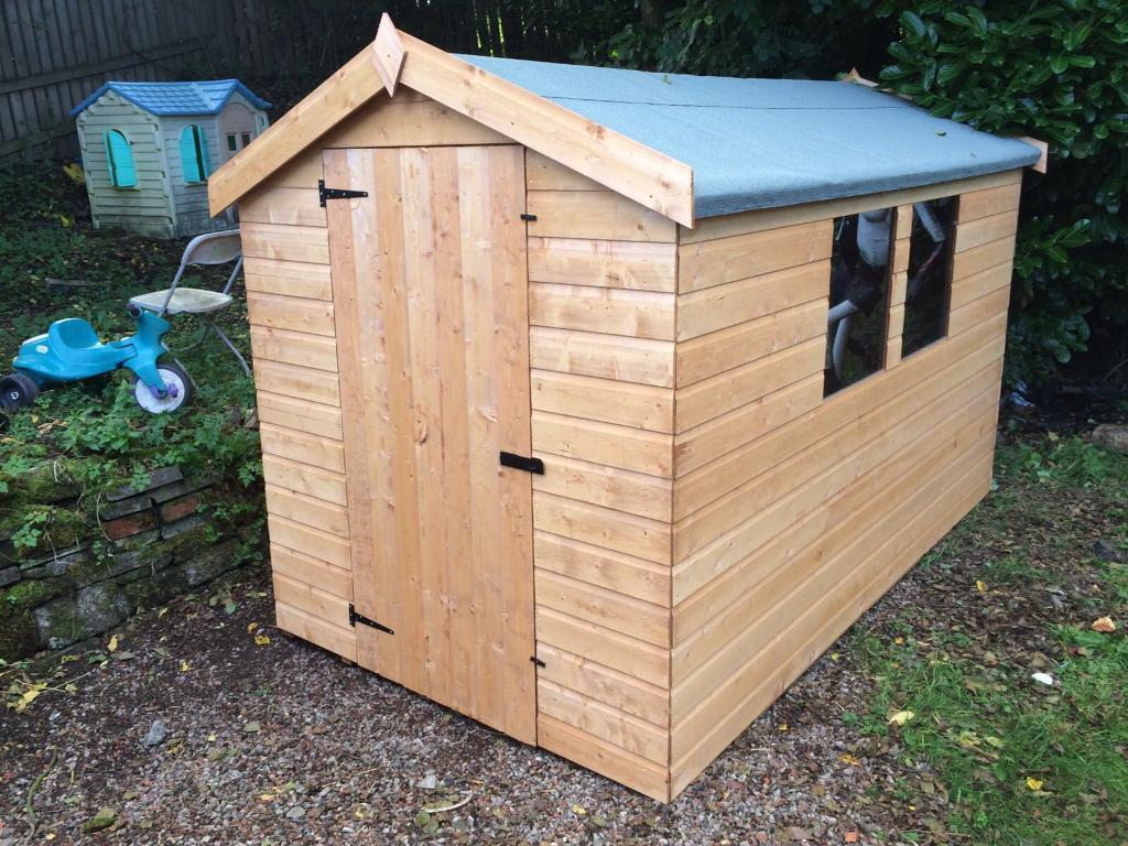 7x5 APEX ROOF GARDEN SHEDS (HIGH QUALITY) £369.00 ANY SIZE (FREE DELIVERY