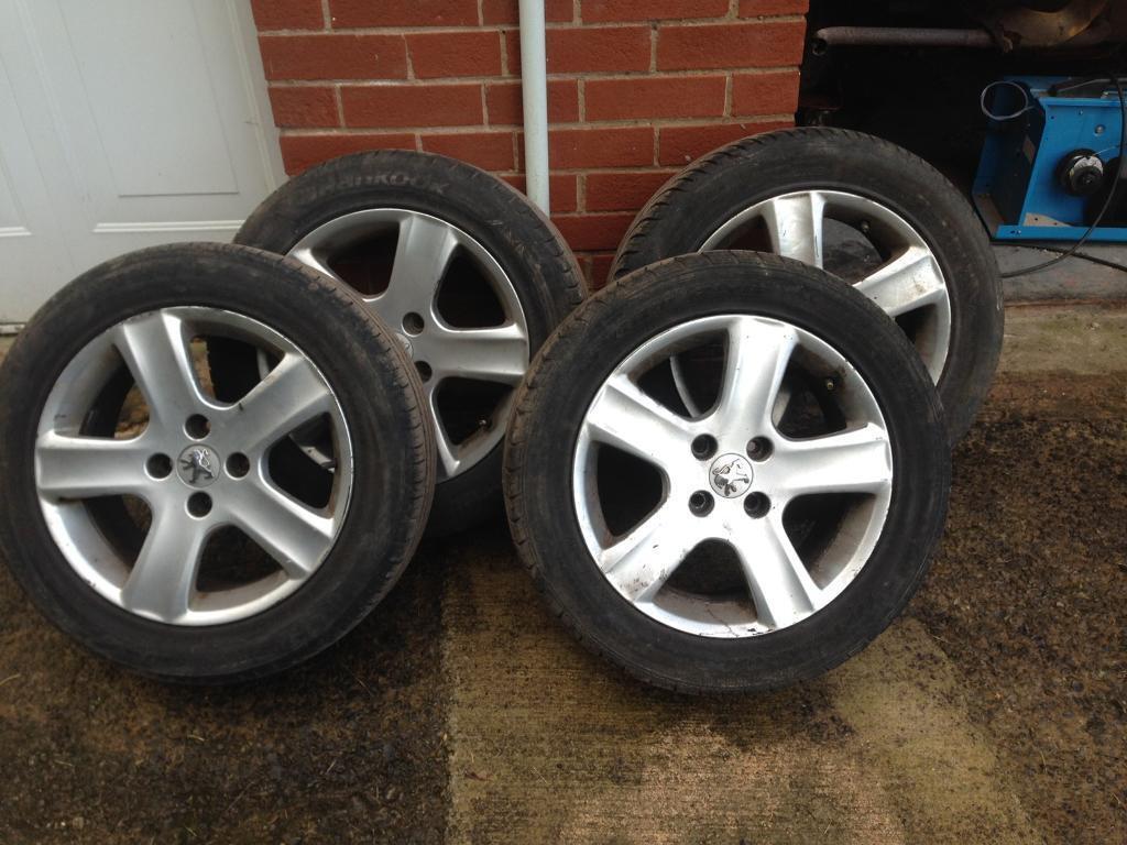 peugeot alloy wheels 16 inch 205 55 16 tyres suit 307 207 206 belingo 308