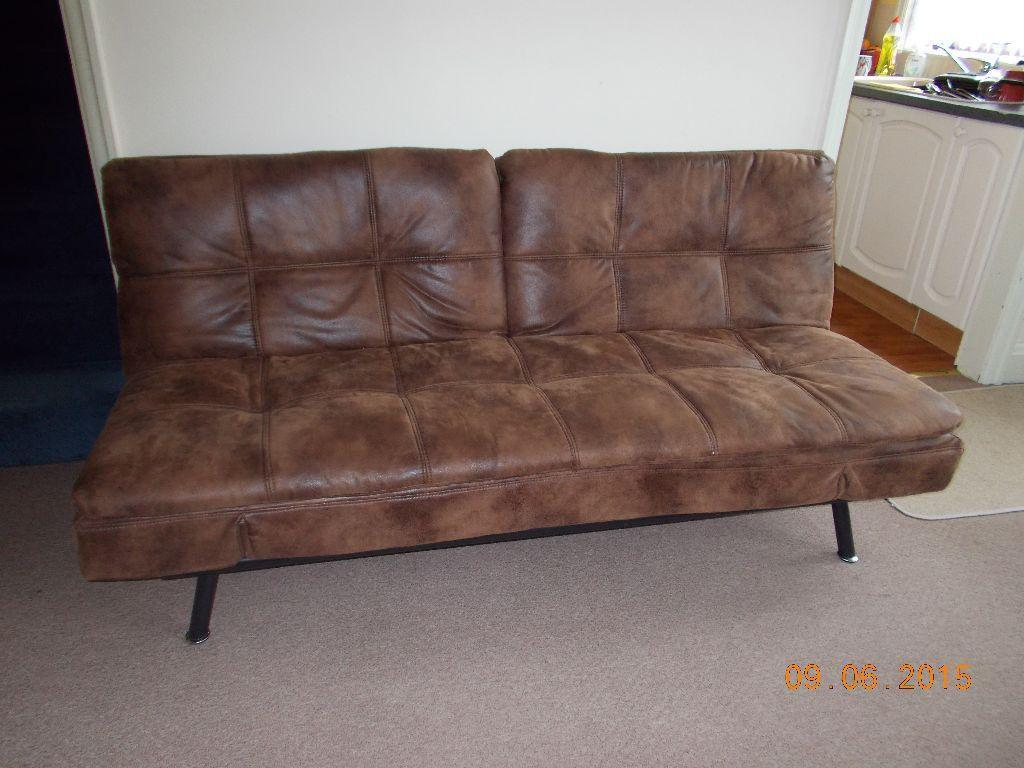 Texas Faux Leather Sofa Bed From Bensons For Beds RRP 299.99