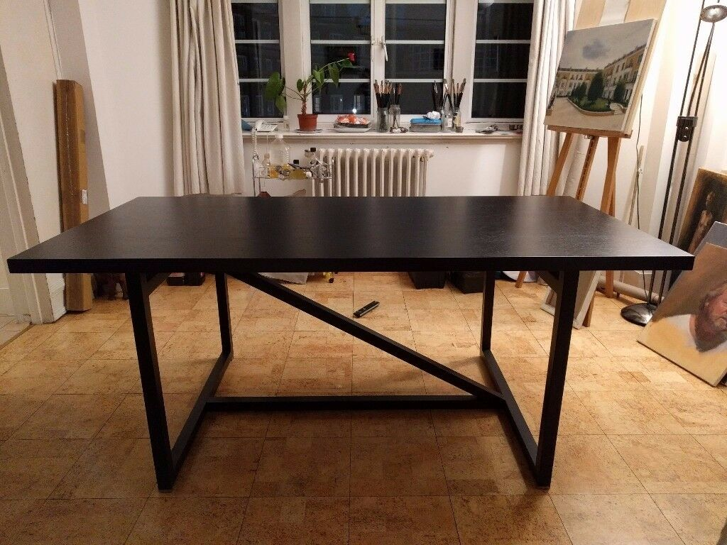 Amazing Beautiful Designer Dining Table Dark Brown Sits 6/8 Without Chairs