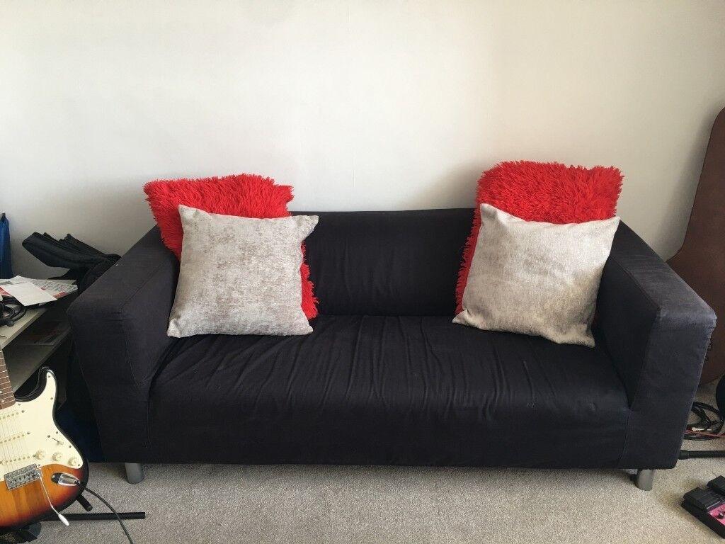 Sofa   Ikea Klippan Couch W/ Cushions