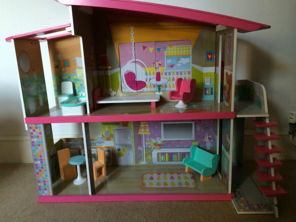 Early Learning Centre ELC Magic Dolly Duplex Wooden Dolls House