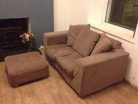 Two Seater Sofa And Footstool (removable, Machine Washable Covers)