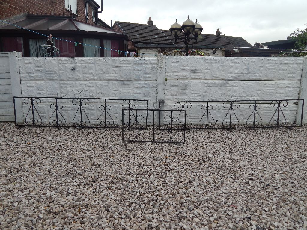 Genial Wrought Iron Railings / Driveway / Garden / Wall Toppers / Metal Fence  Sections / Decking