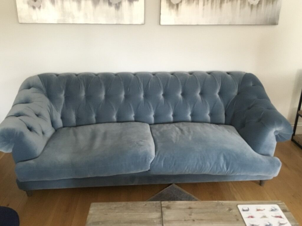 Loaf Bagsie Light Blue Velvet Sofa