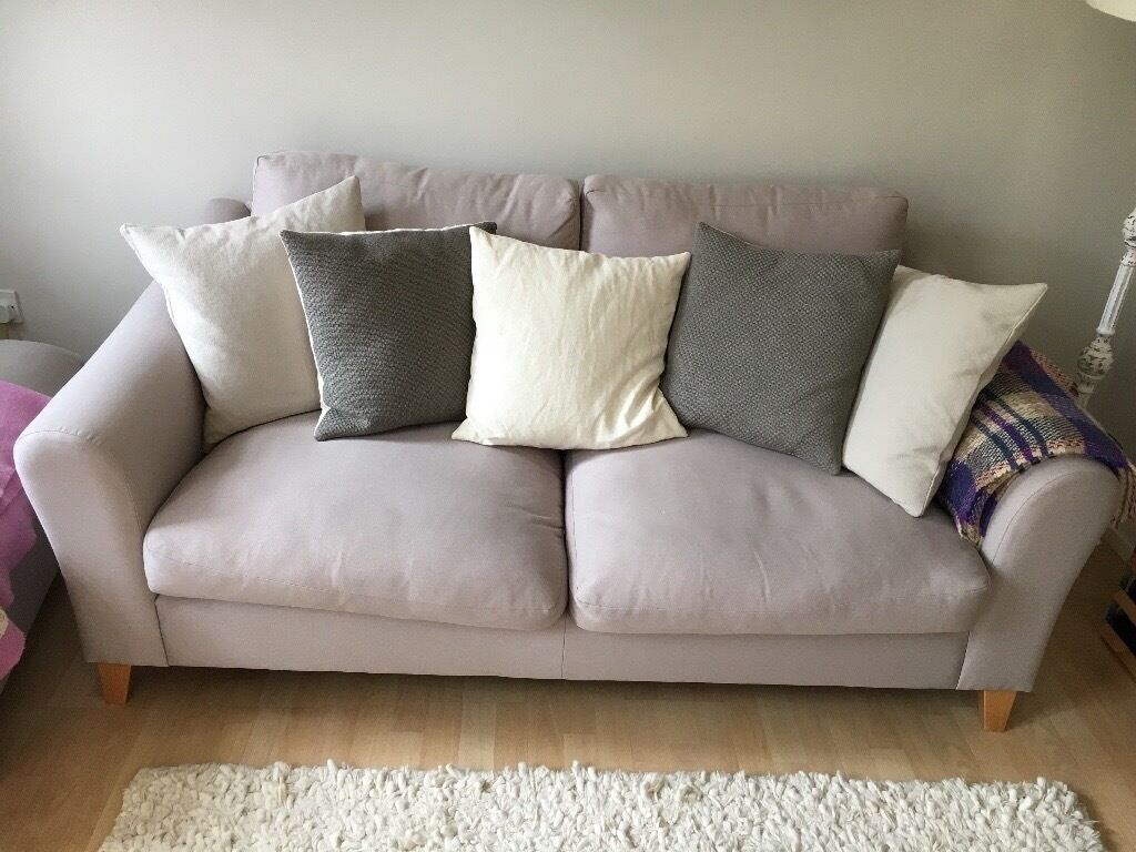 Nice Laura Ashley Baslow Sofa And Footstool In Beatrix French Grey