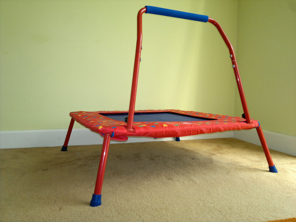 Galt Trampoline   In Good Condition (seen Light Usage). Folds Away For  Storage