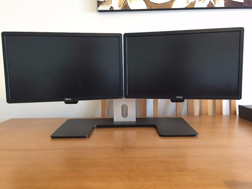 dell dual monitors including official dell dual monitor stand