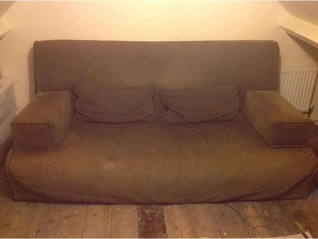 Ikea Beddinge 3 Seater Sofa Bed With Lövås Mattress And 2 Arm