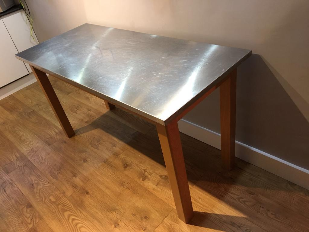 John Lewis Stainless Steel Breakfast Bar Table | In Bishops Stortford,  Hertfordshire | Gumtree