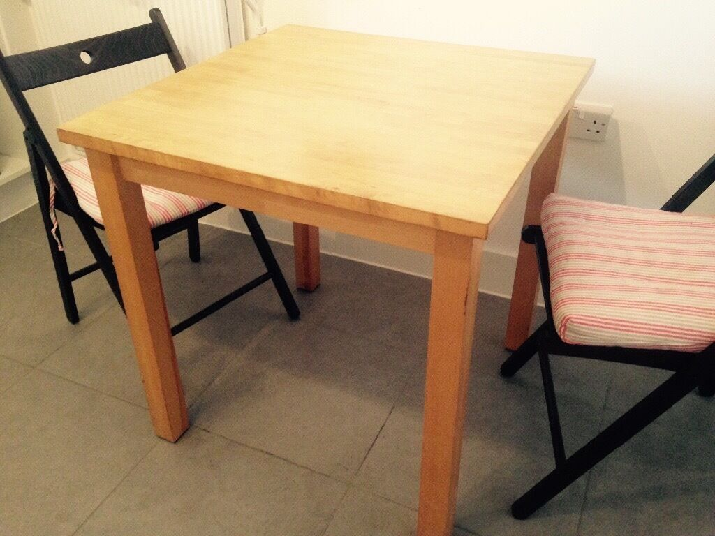 Charmant IKEA BJÖRKUDDEN SQUARE TABLE SOLID BIRCH ONLY £25