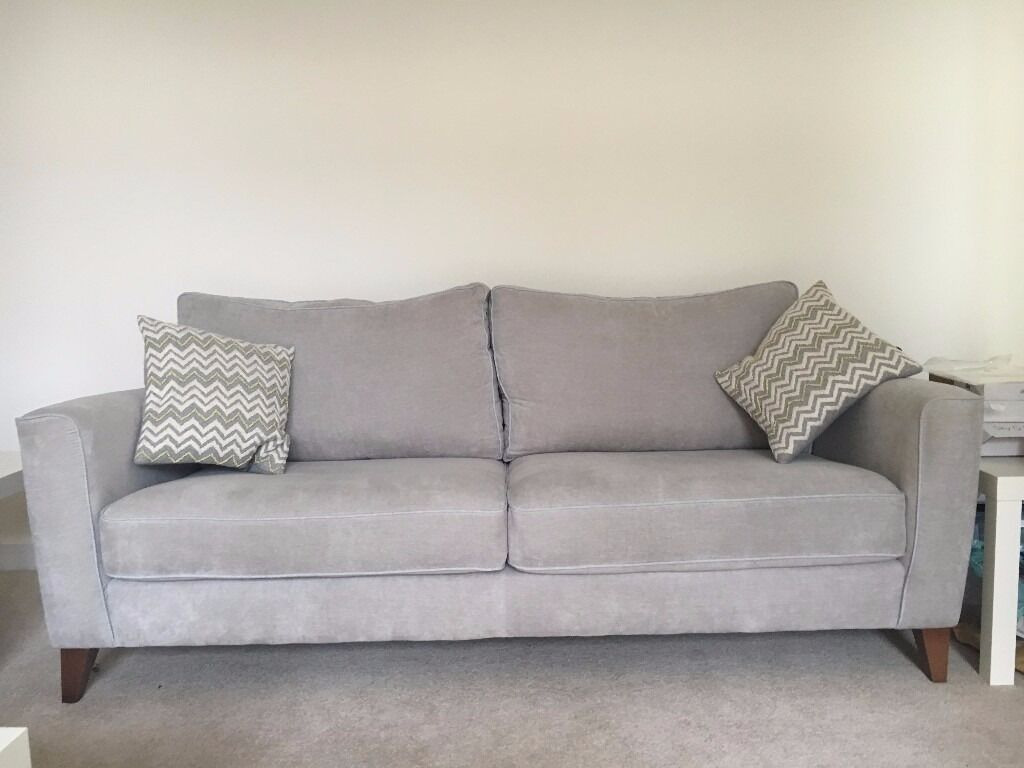 Exceptionnel Furniture Village U0027Copenhagenu0027 4 Seater Sofa In Graceland Grey (1 Of 2  Available