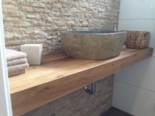 Attraktiv Waschtisch Platte Brett Fensterbank Baumkante Eiche Massiv Holz In  Wilhelmshaven