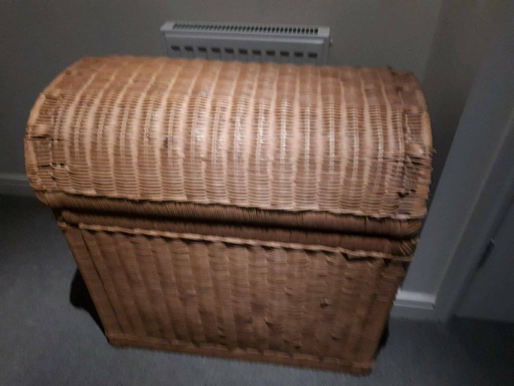 Very Large Wicker Chest Storage Basket