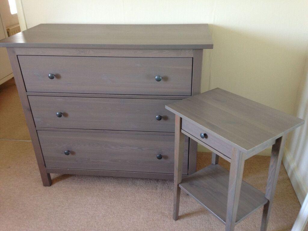 IKEA HEMNES Bedroom Set X1 Chest Of Draws U0026 X1 Bedside Table