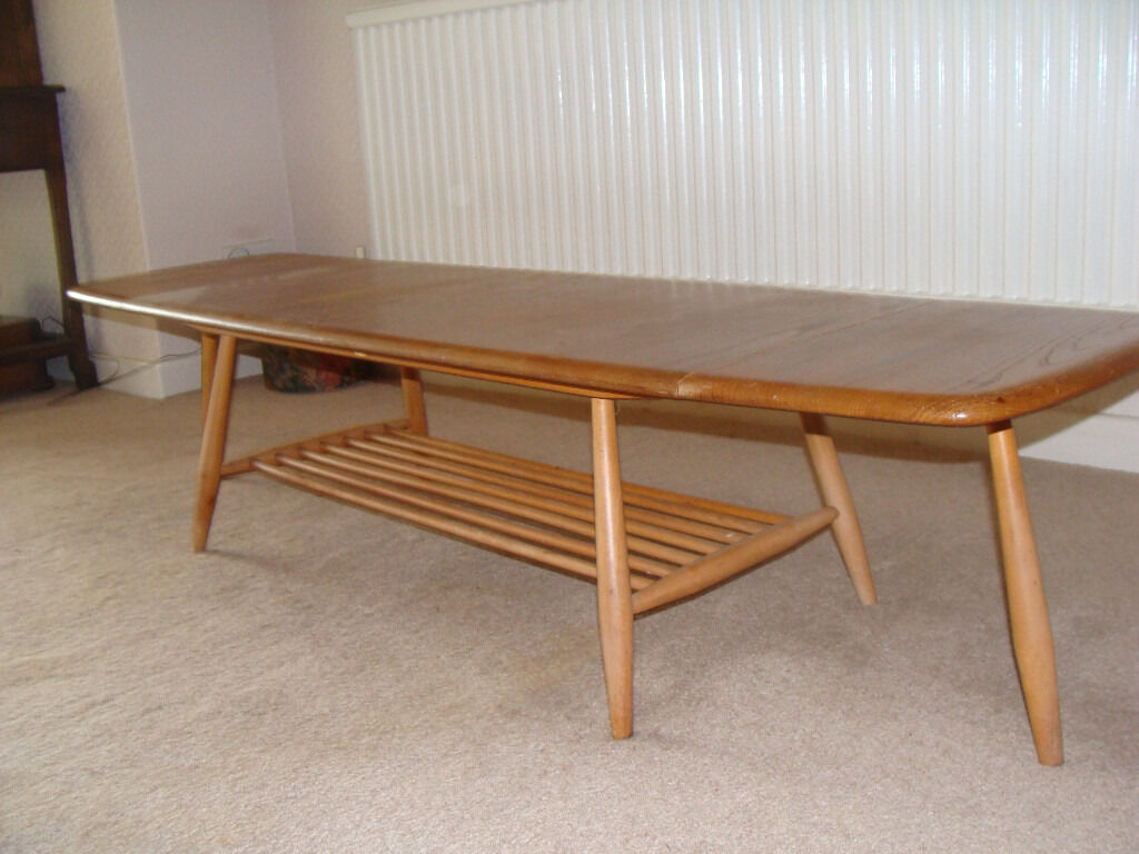 Bon 1960s Ercol Drop Leaf Coffee Table