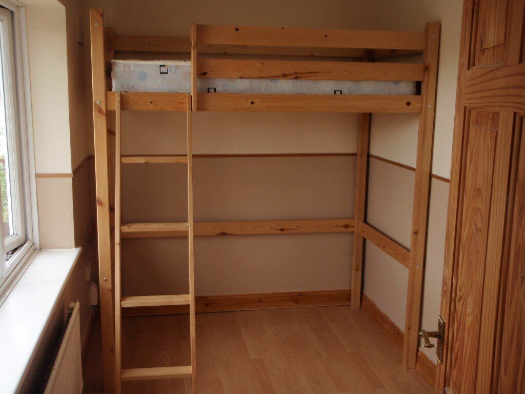 shorty bed frame single high sleeper bed with mattress short length in norwich