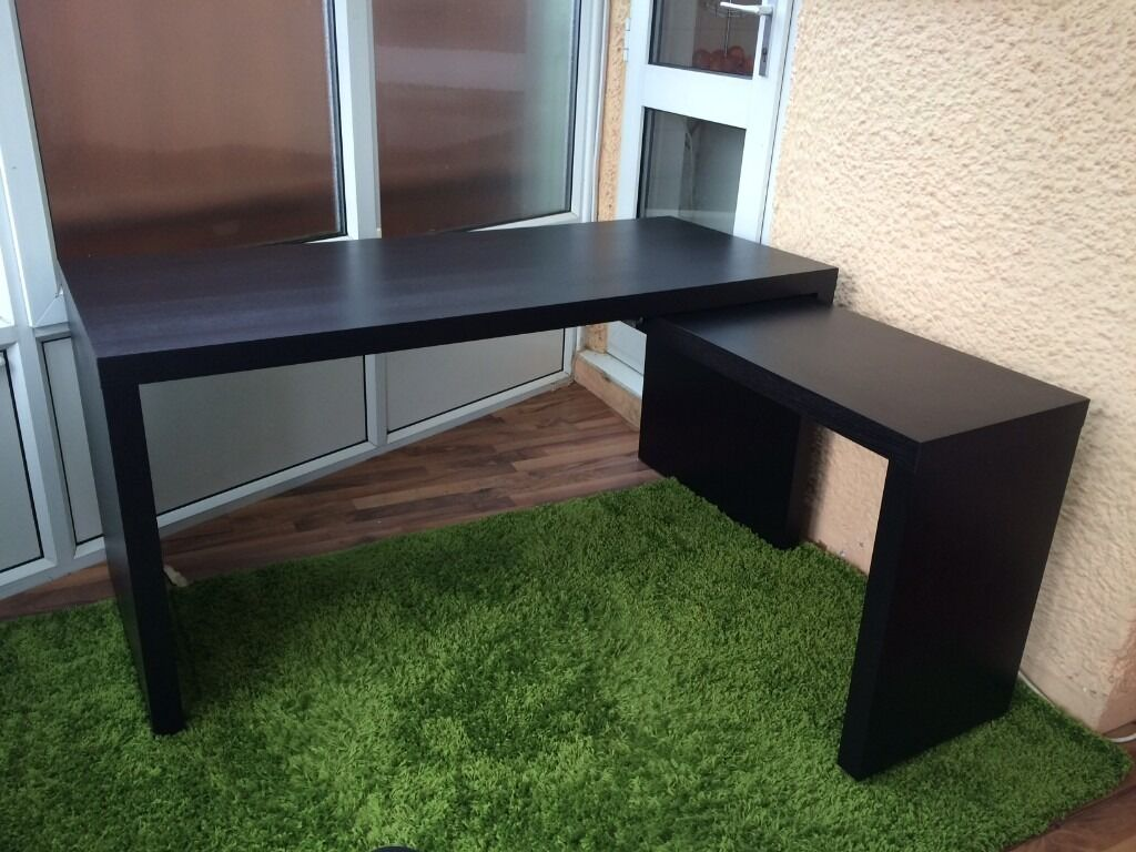 High Quality Ikea MALM Desk With Pull Out Panel   Great Condition