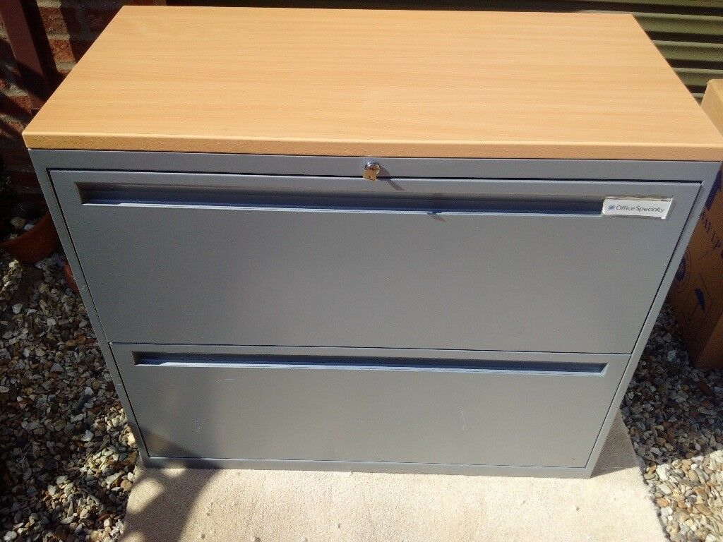 Office Speciality U2013 Silver Grey 2 Drawer Side Filer Filing Cabinet