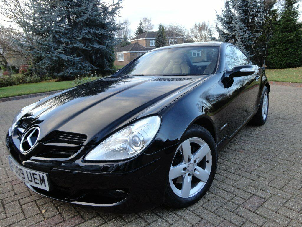 Ordinaire Mercedes SLK 200 Convertible Sports Car In Black. Beautiful Condition.  Family Owned Since New