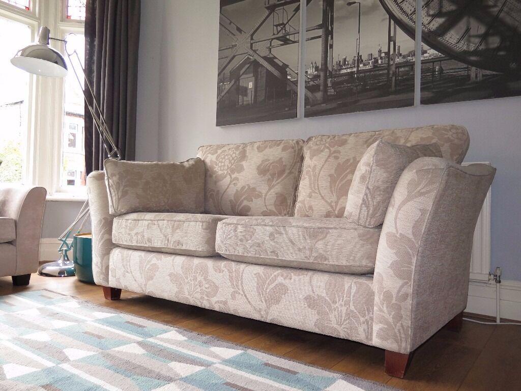 Cream Floral Mu0026S MARKS U0026 SPENCER U0027Barlettau0027 3 Seater Sofa