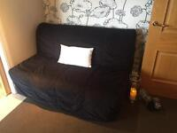 ikea twoseat sofabed black
