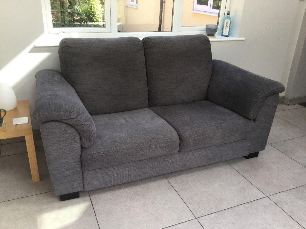 2 Seater IKEA U0027Tidaforsu0027 Sofa In Hensta Grey With Dark Wood Feet. Condition