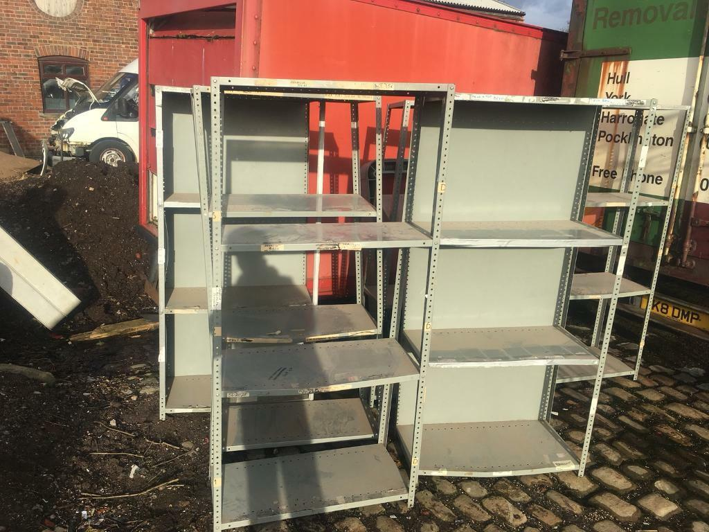 Metal Dexion Shelving : Many Bays For Workshop /storage/offices