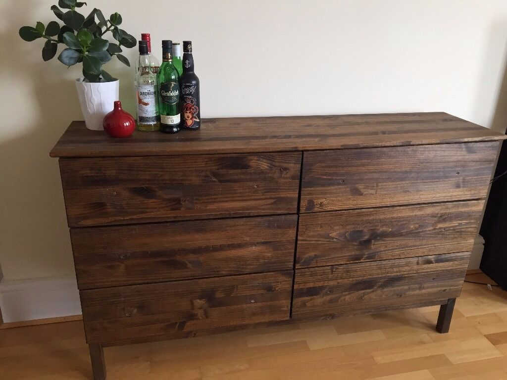 Chest Of 6 Drawers In Warm Walnut Stain   TARVA Collection From IKEA