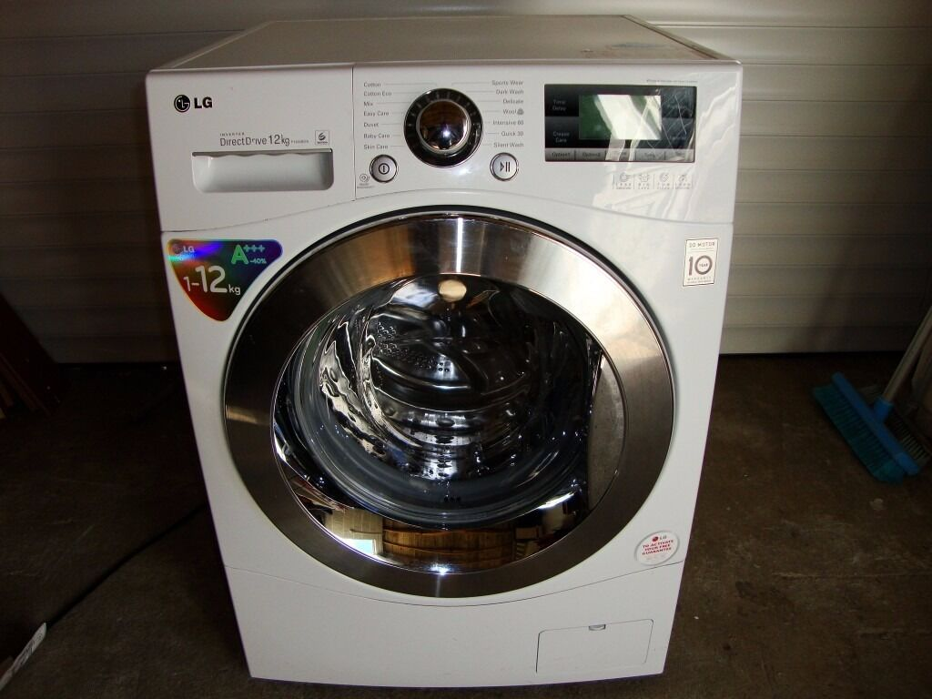 12kg lg washing machine inverter direct drive f1495bda spares or repair