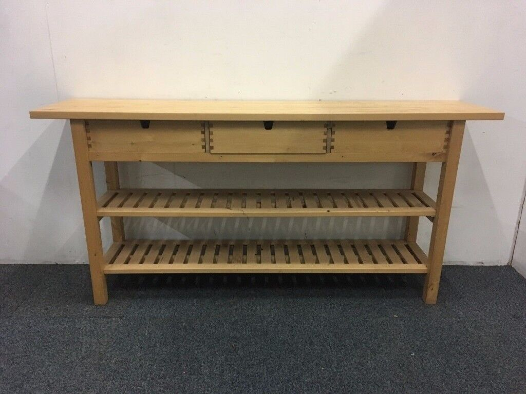 Long Pine IKEA Forhoja Kitchen Island With Three Drawers In Stroud