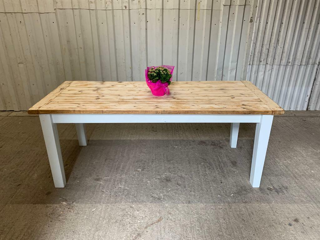 2m Vintage Plank Top French Farmhouse Dining Table | In Buckingham,  Buckinghamshire | Gumtree