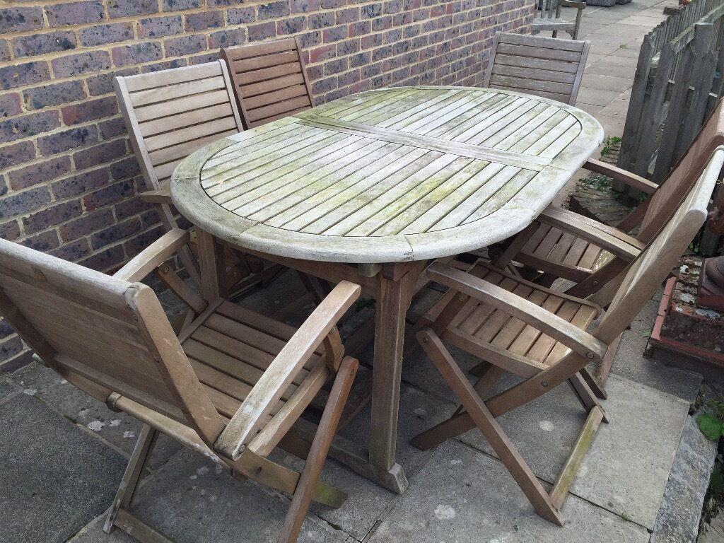 Homebase Peru Wooden Extending Garden Furniture Set In Tunbridge
