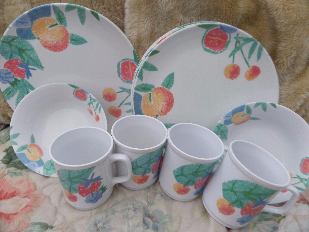 Set of Melamine plates/bowls/cups & Set of Melamine plates/bowls/cups | in Leeds West Yorkshire | Gumtree