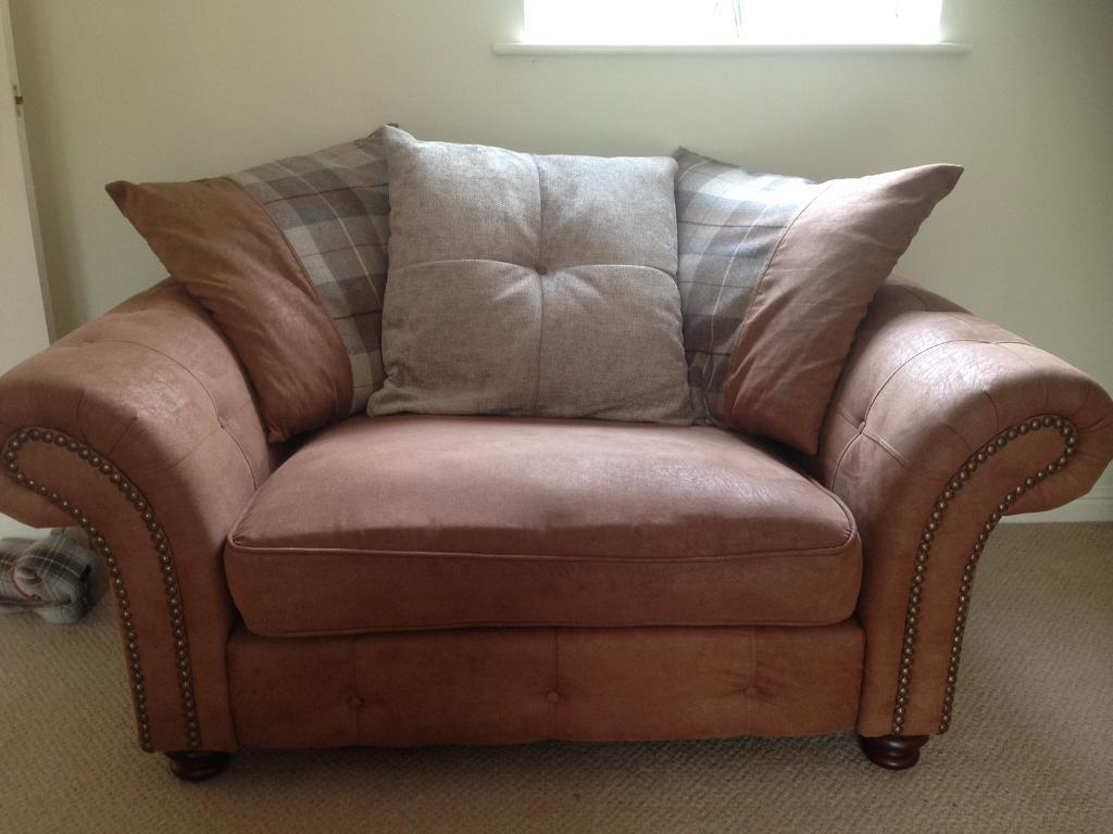 Attractive DFS Sofa Woodland Range , 2 Seater Cuddler Sofa Only. Still Available In  Store