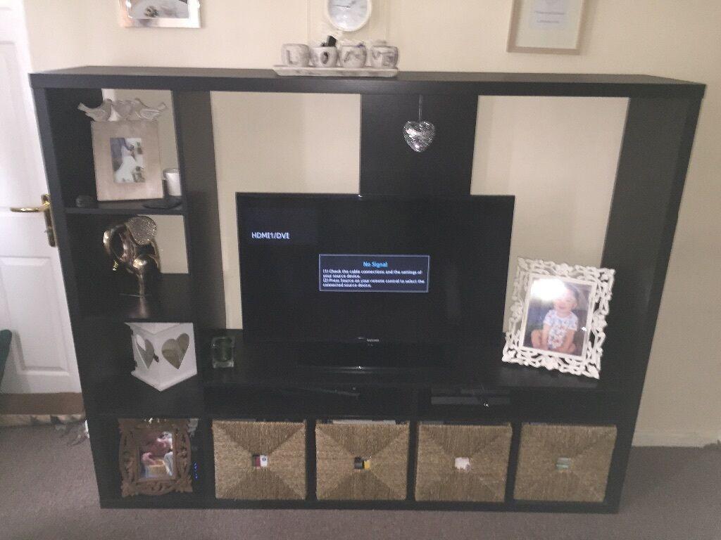 Good Tv Media Storage Unit Part - 9: £50 IKEA Lappland TV Media Storage Unit Stand Shelving Unit Brown Black  With Sea Grass
