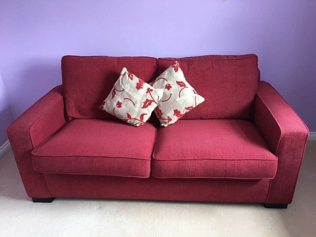 Exceptional Dark Red Sofa Bed