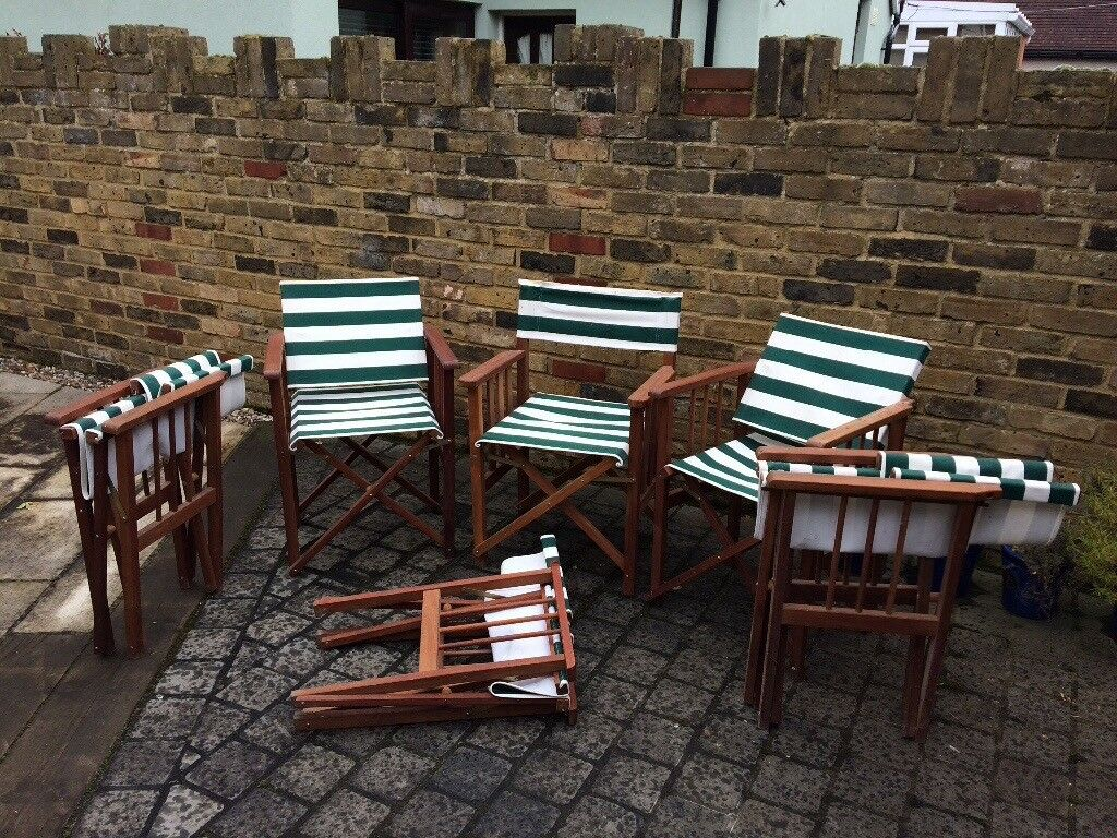 Garden Chairs 6 x director style folding chairs & Garden Chairs 6 x director style folding chairs | in Chelmsford ...
