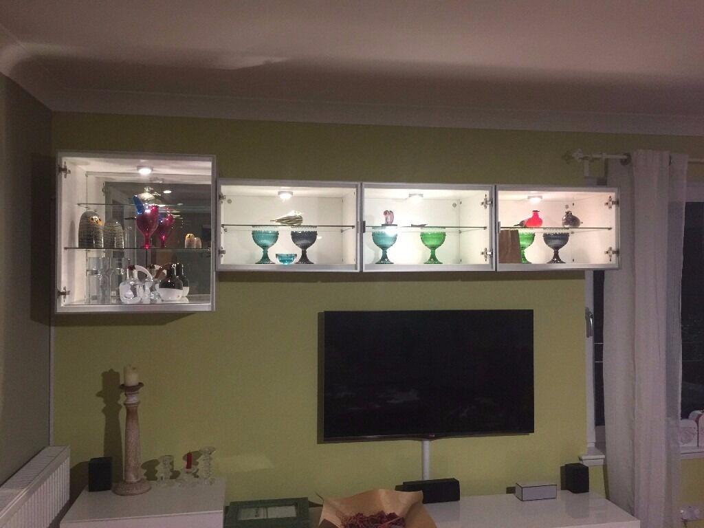 IKEA Besta Display Shelf Unit / Height Extension Unit / Glass Doors /  Display Cabinet /