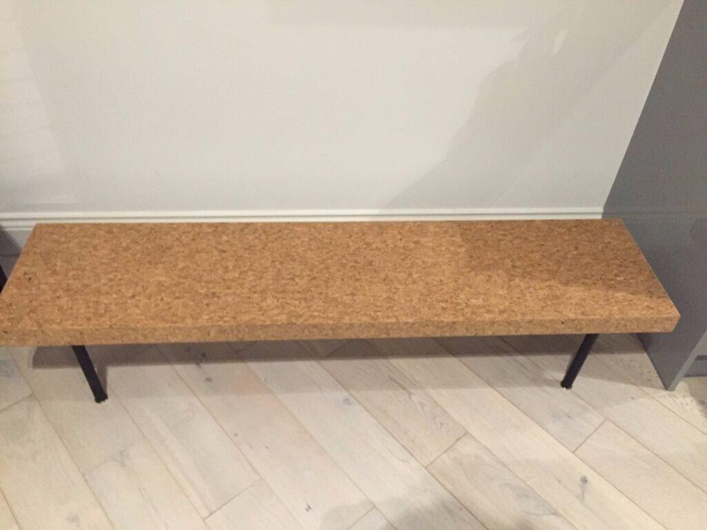 Ikea Sinnerlig Cork Coffee Table   Like New
