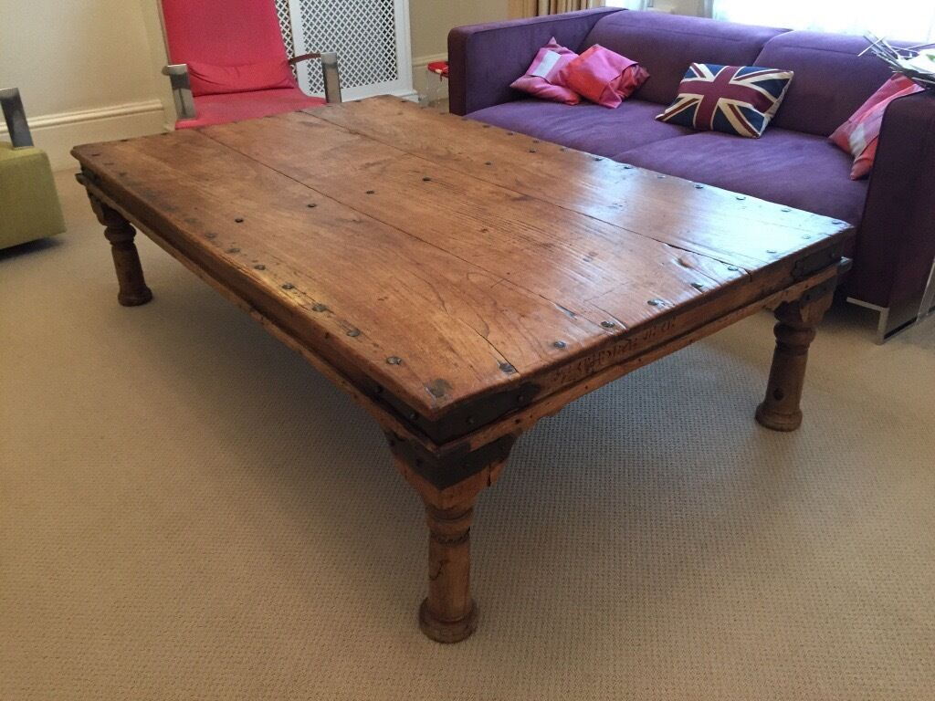 URGENT ANTIQUE LARGE JALI INDIAN COFFEE TABLE £190